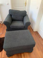 Ikea Ektorp Sessel und Hocker