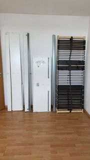 Bett IKEA Skorva Schubkästen Stauraum