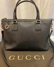 Original Gucci Handtasche Schwarz Leder