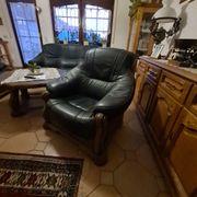 Couchgarnitur 1-2-3 Sitzer Büffelleder Eiche