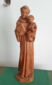 Antik Heiliger Franziskus Holz Schnitzerei