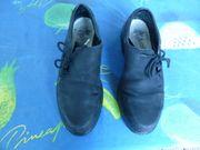 Haferl Halb Schuhe Trachten dunkelblau
