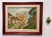Brasilien Ölgemälde Kirche Barock Kolonial