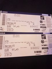 2 tickets for the concert