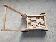 Lauflernwagen Laufwagen aus Holz Handwagen