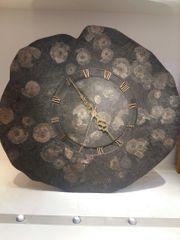 Uhr mit Versteinerungen 40cm Selten