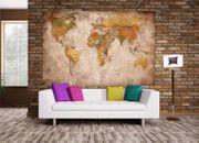 GREAT ART Fototapete - Weltkarte - Wanddekoration