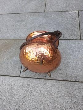 Bild 4 - Kupfer Blumentopf mit Henkel und - Nürnberg Thon