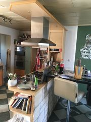 Küchenzeile Oberschränke Herd Grill Abzug