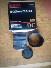 Sigma Objektiv für Digital-Spiegelreflex Kamera