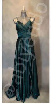 Abendkleid Abiye mit Beinschlitz Smaragdgrün -