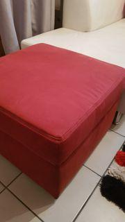 Hocker Sessel Stuhl aus Veloursleder