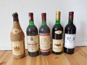 Wein 5 Weinflaschen u a