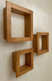Würfelregal Holz 3er Set