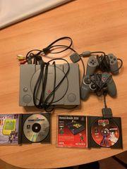 PS1 mit Spielen