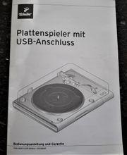 Plattenspieler mit USB Anschluß von