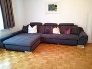 Sofa Couch ausziehbar anthrazit-farben