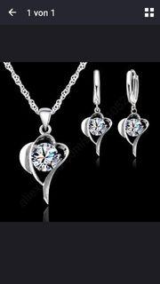 Herz mit Diamanten Christal Stein