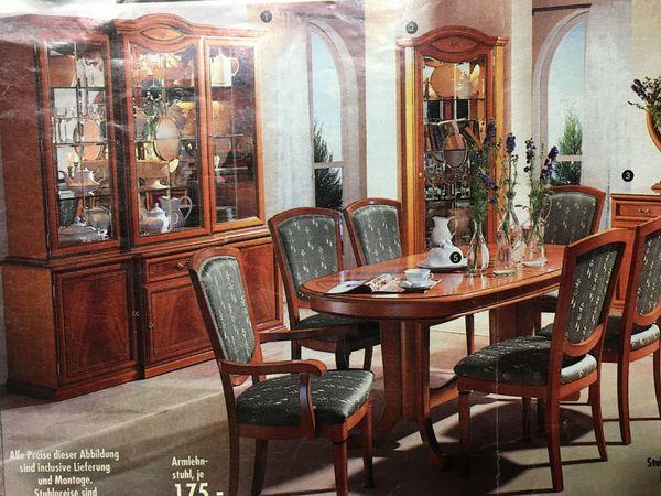 Komplett Möbel Italien Wohnzimmer Esszimmer Giotto Kirschbaum