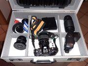 Fotoapparat mit Zubehör
