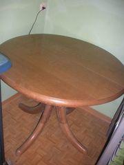 Runder Eichenvollholztisch ausziebar wegen Umbau