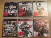 6x PS3 Spiele ACTION GTA