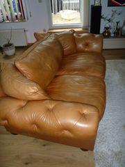 Italienische Leder-Couchs Zwei und Dreisitzer