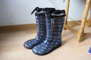 Gummistiefel Regenstiefeln Matschstiefel blau 31