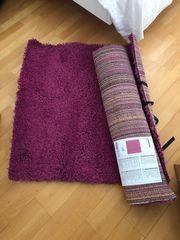 2 Stück TeppicheTOP pink 80x80