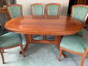 Esstisch mit 6 Stühlen grün