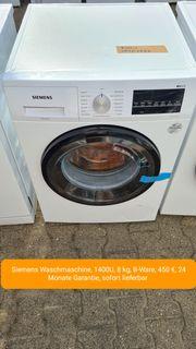 Siemens Waschmaschine 1400U 8kg