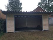 Stahl Holz Weidehütte 6 x