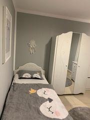 Jugend- Kinderzimmermöbel Komplett Kleiderschrank Bett