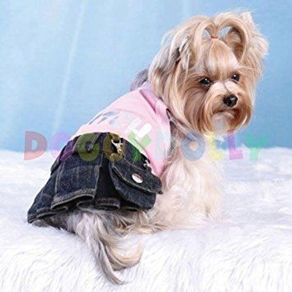 Hundebekleidung pink blau mit 2