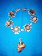 Armband mit Kettenanhänger Echte Steine