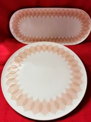 Rosenthal Lotus Gravad Rosa Tortenplatte