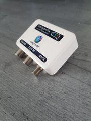 Multimedia-Verteilverstärker push on Adapter