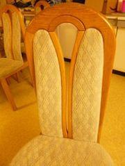 Stühle Esszimmerstühle gepolstert Tisch neuwertig