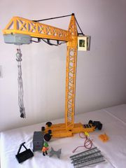 Playmobil elektrischer Baukran