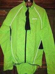 Damen Herren Wetterjacke Neongrün für