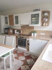 Landhaus Küche Nobilia weiß Eiche