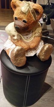 Teddy BÃEURrin aus Pappmaschee hÃŒbsche