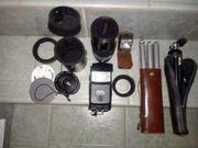 Diverses altes Fotoapparat Zubehör Objektive