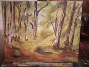 Tolles Gemälde Wandbild Wald auf