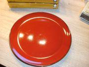 rote Keramikgrillteller