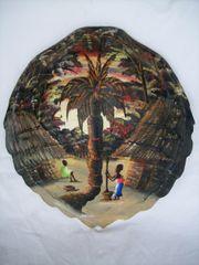 Afrikanische Kunst - altes Gemälde -