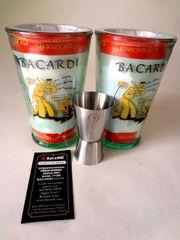 Bacardiset 2-6 Cocktailgläser 150 Jahre