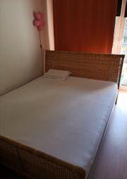 Bett Rattanbett von IKEA