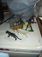 Spielzeugsammlung Tiere Zoo Wald Bauernhof