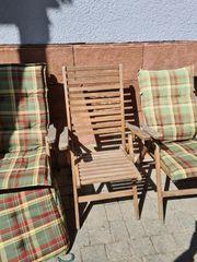 4 Holz Gartenstühle